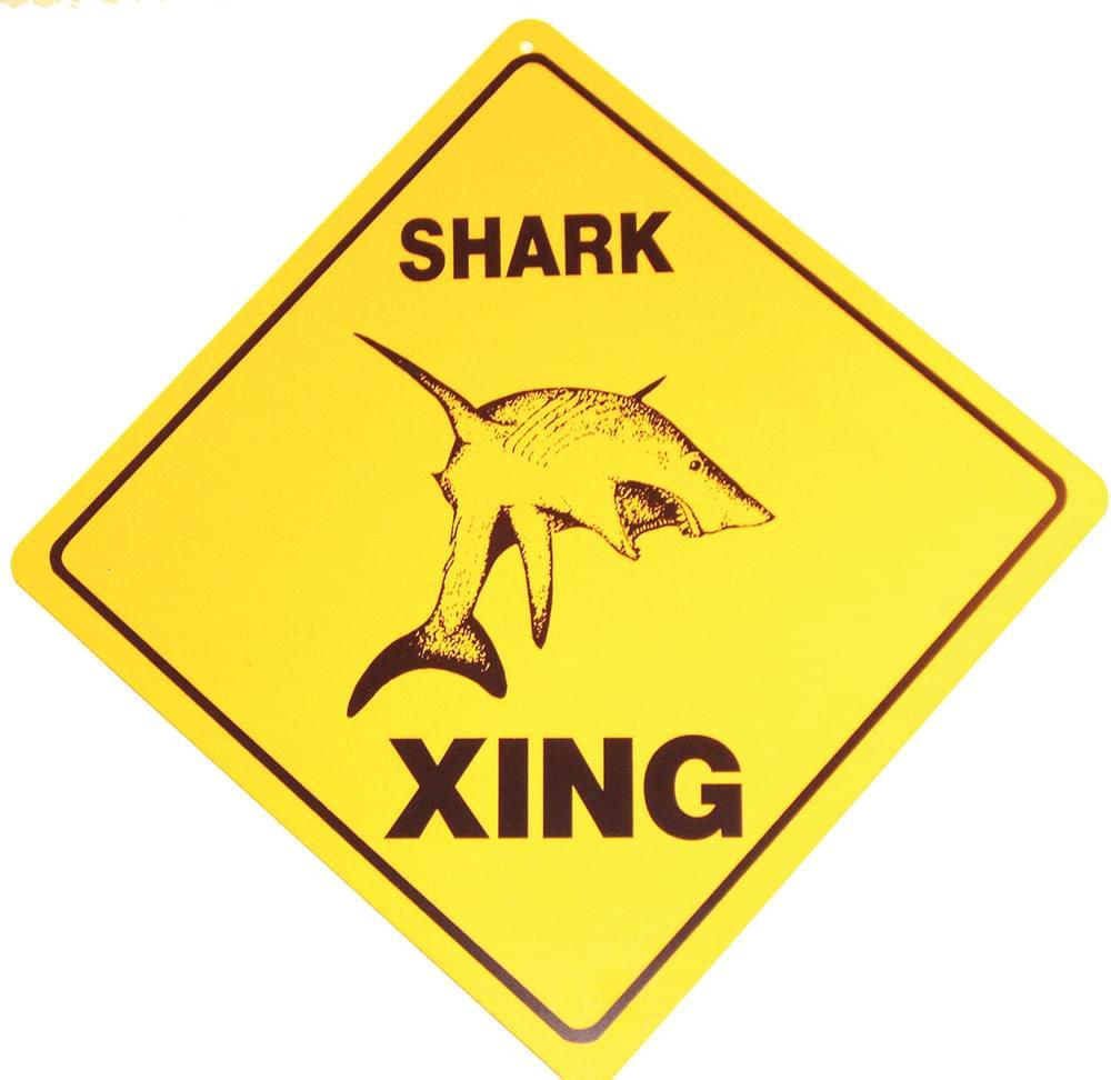 Crossing Sign Shark Crossing Sign