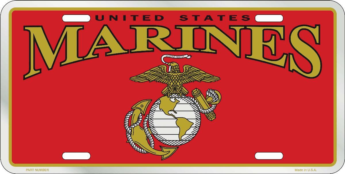 Metal Plate US Marines - Metal License Plate