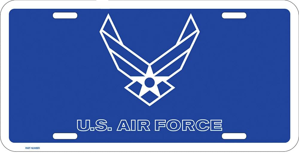 The United States Air Force - Metal License Plate