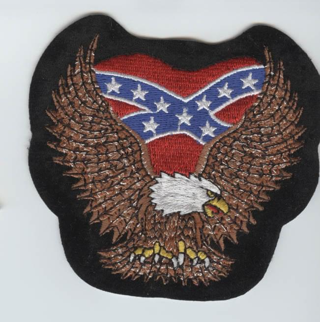 Confederate Flag On Eagle Open Wings Patch 5 Quot Patch