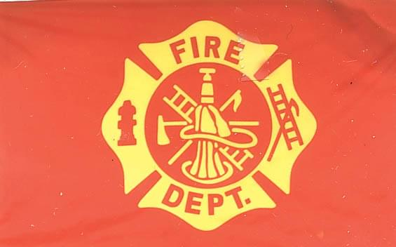 Fire Department Flag - Flag 3'x5' Polyester