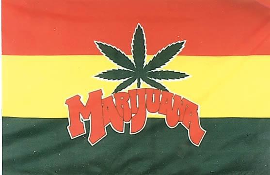 Marijuana Flag Flag 3 X5 Polyester