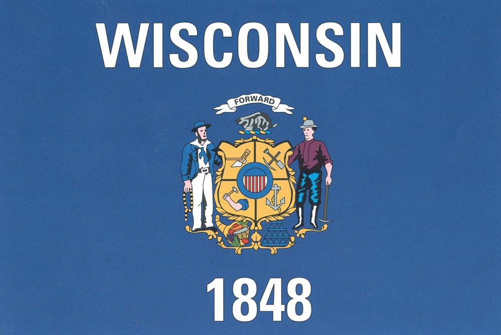 Wisconsin Flag Flag 3 X5 Polyester