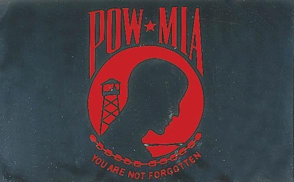 Pow Mia Red 3x5 Flag Flag 3 X5 Polyester