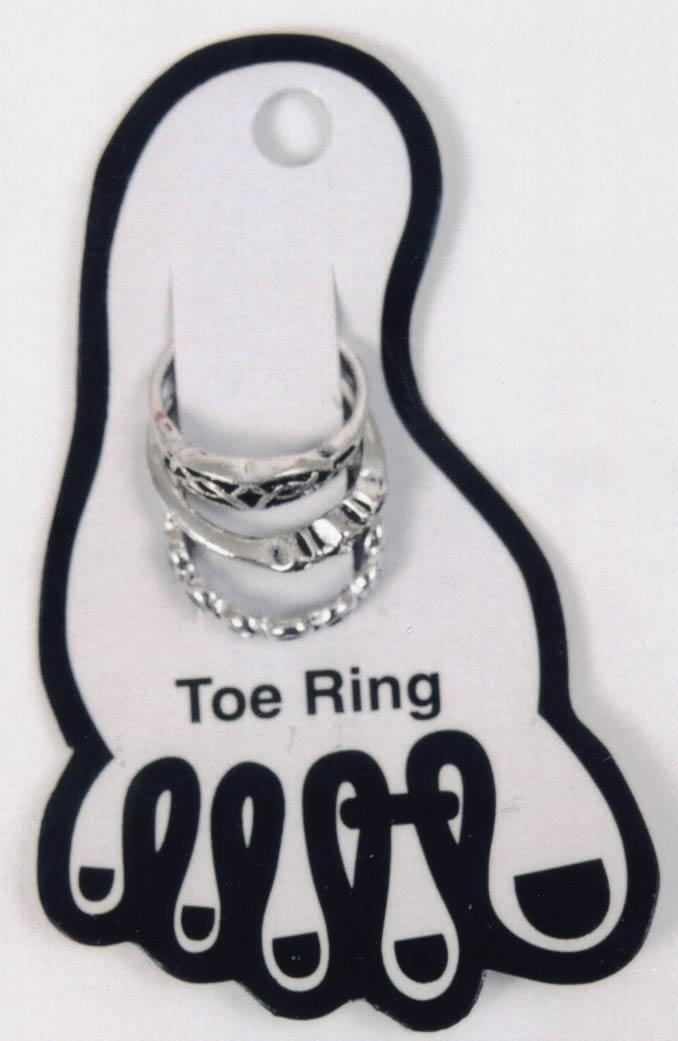 Toe Ring 3 On Card Toe Ring