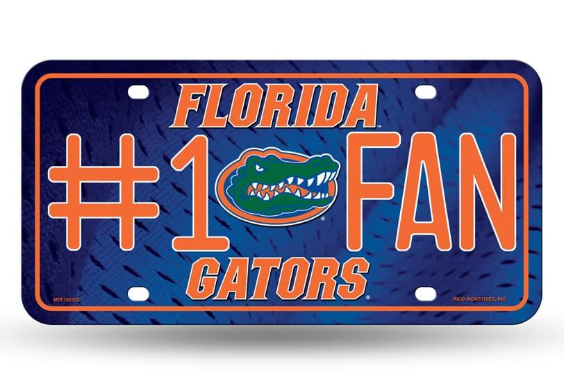 Florida Gators #1 Fan Metal License Plate - #1 Fan Metal License Plate