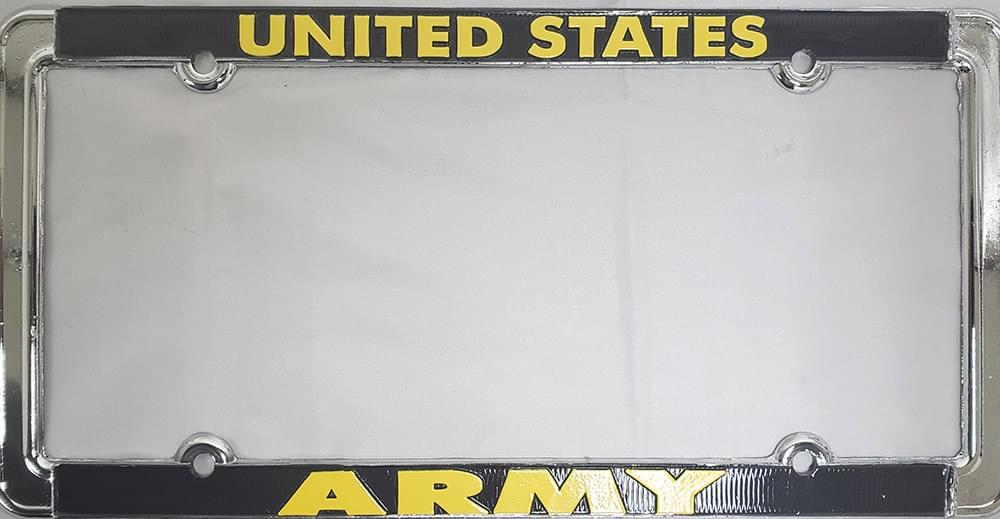 us army metal license plate frames license plate frame