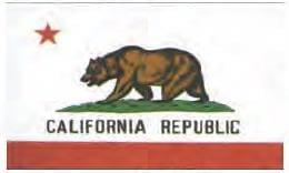 California  Embroidered 2 Sided 3'x5' Flag - Embroidered Flag