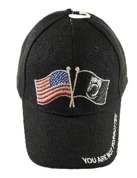 usa u0026 pow wavy flag embroidered hat embroidered hat - Pow Mia Hat