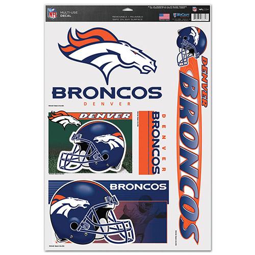 "Denver Nn: Denver Broncos 11""x17"" Window Clings"